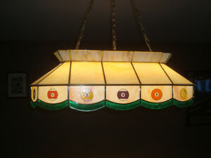 Pool Table Stain Glass Light