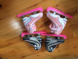 Patins à glace et à roulettes pour enfants