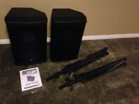 Yorkville NX55P Powered Speakers 1000 Watts w/ stands