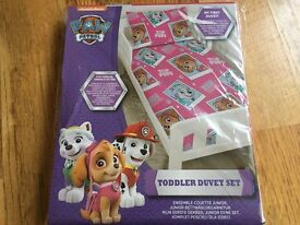 **Brand New Paw Patrol Toddler/Junior/Cot Bed Duvet Set**