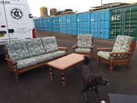 Sofa, 2 chairs and a coffee table. Free local delivery.
