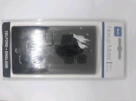 Nexus metal black nickel 13A switched socket 2 gang, double pole