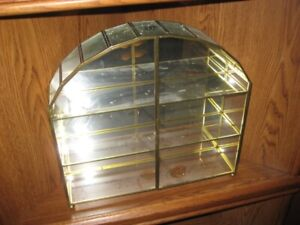 DISPLAY CASE - glass and brass