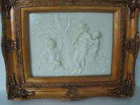 ANGELS, CHERUBS PLAQUES, PICTURES, WALL HANGING,RAISED SCULPTURE