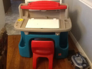 Childs Step two desk and chair