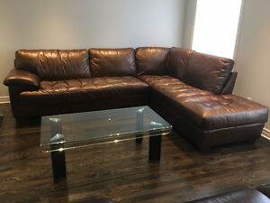 $1000 - Beautiful Leather Sectional - Great condition!