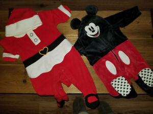 Various baby clothes, shoes 0 to 6 months