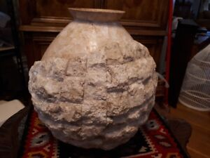 """Large Alabaster vase 13 """" tall, 39 inches round!"""