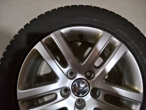 """Dunlop WinterSport 4D tires (almost new) on 16"""" VW OEM alloys"""