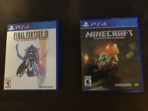 Final Fantasy XII and Minecraft for PS4