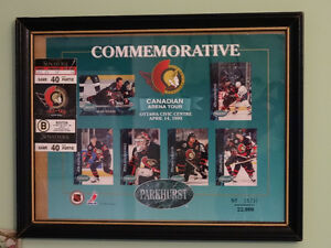 Ottawa Senators Commemorative 1993 Tour Sheet and ticket