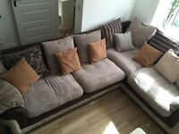 CORNER SOFA BED & FOOT REST WITH STORAGE