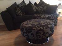 Corner Sofa & Footstool x can deliver x