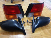 toyota tercel mirrors L/R and back lights L/R parts