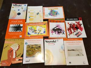 Assortment of Piano Music Theory Book Suzuki