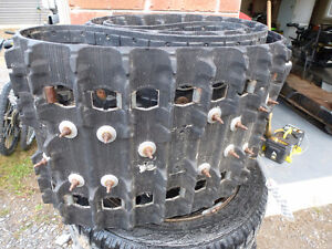 """15""""x136""""x.85"""" Studded Snowmobile Track - Used"""