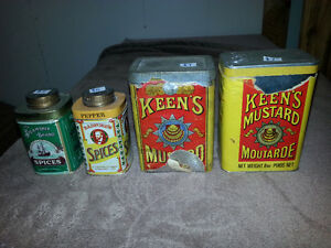 TINS AND VINTAGE FOOD ITEMS