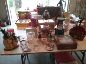 Christmas Decorations, Tree Stand, Garland
