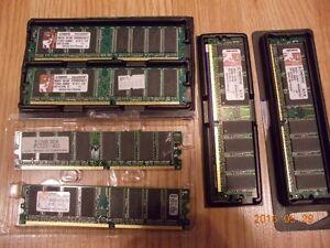 Lot: RAM DDR 400 333 2x 1024MB 4x 512MB Kingston Hynix 4GB 2GB