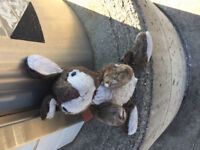 Found. Child's toy soft bunny.