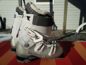 Downhill Skis and Boots With Fitted Bindings Made In Austria