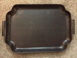 Antique-Finish Serving Tray