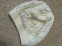White knitted Hat - Perfect Condition - Size Small