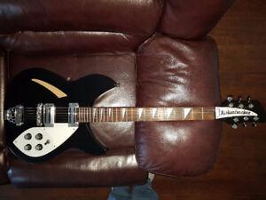 Guitare Rickenbacker 330 Noir  (Réplique )