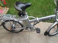 Folding electric bike as new