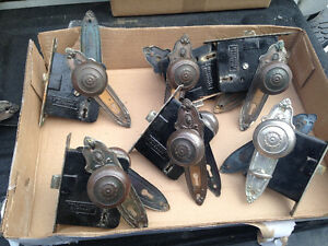 9 RARE ANTIQUE DOOR KNOBS FROM HERITAGE STYLE HOME 1929