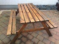 Garden picnic table bench