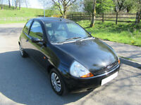 2006 '55' FORD KA 1.3 COLLECTION 3 DOOR IN BLACK ONLY 52,000 MILES ONE OWNER