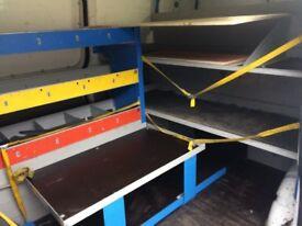 Sky tv racking system for traders van