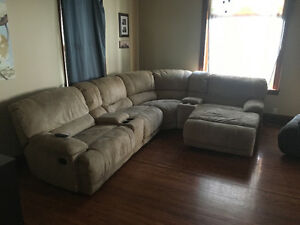 6 peice couch  recliner and chaise