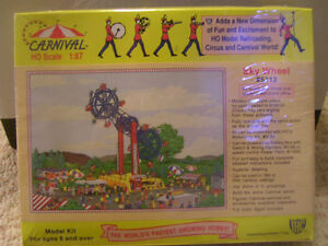 HO-Scale Train Set Carnival Rides $25-$40 each