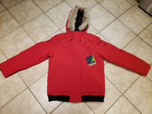 Brand New Mens Woods Nipigon Bomber Jacket - Red