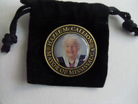 MAYOR HAZEL McCALLION COMMEMORATIVE MEDALLION WITH POUCH.