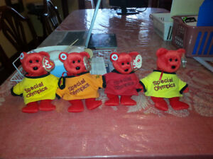 SPECIAL OLYMPICS BEANIE BABIES - SET OF 4