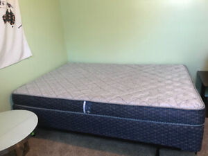 Double bed frame, boxspring, and mattress! $200 OBO