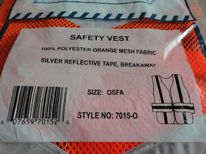 Brand new orange reflective safety vest one size fits all London Ontario image 2