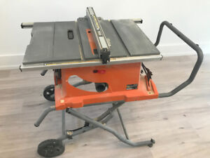 RIDGID 15 Amp 10-Inch Heavy-Duty Portable Table Saw with Stand