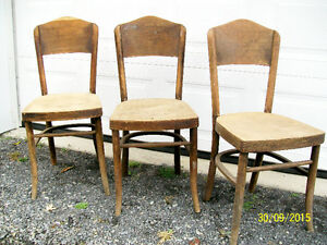 3 Vintage Wooden Chairs