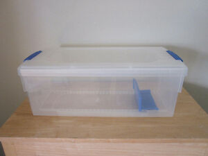 2 Rubbermaid Plastic Storage Containers