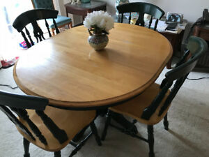 Dining Room Set - Table with 4 chairs; Wood