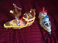 Jake and the never land pirates ships