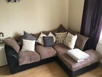 Right hand corner sofa & cuddle chair