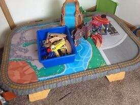 Wooden train table and accessories kidcraft