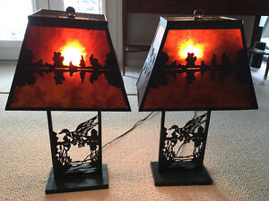 Two very Nice Lamps - Canadian Themed