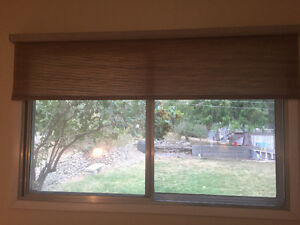 3 Woven fabric roller shades