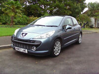 Stunning 2007 Diesel Peugeot 207 1.6HDI GT Full Service History Cambelt Replaced
